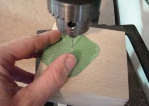 Drill A Hole For Scroll Saw Blade.