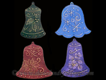 Bell Ornaments With Texture