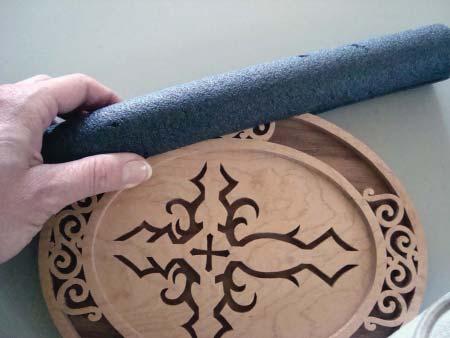 Foam Pipe Insulation On Scroll Saw Cross