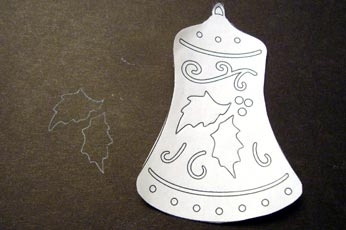 Trace Scroll Saw Bell Pattern #2