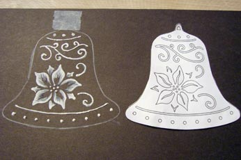 Scroll Saw Pattern And Finished Piece