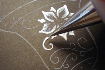 Add Texture To Fretwork Swirls
