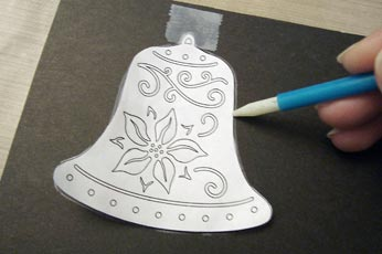 Tape Scroll Saw Pattern To Surface