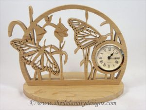 Scroll Saw Butterfly Clock